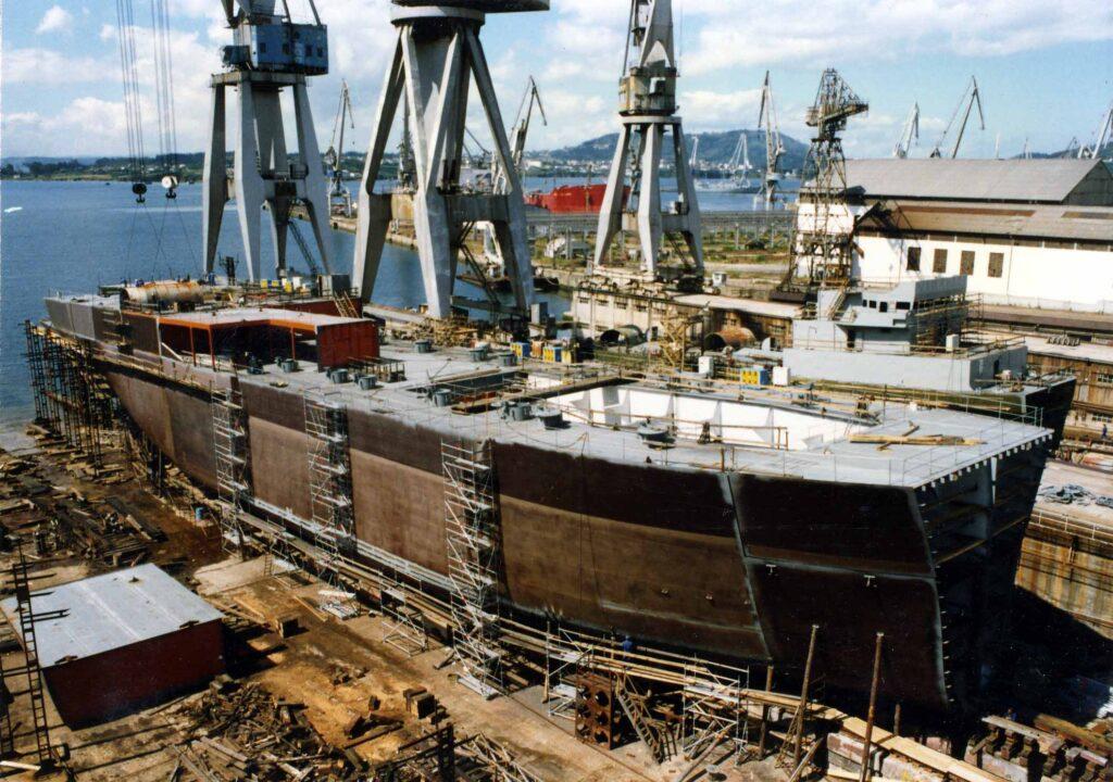 """Figura 8: Construcción del petrolero """"Mar del Norte"""""""