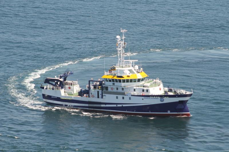 Figura 3: Angeles Alvariño navegando (Fuente: Armón)