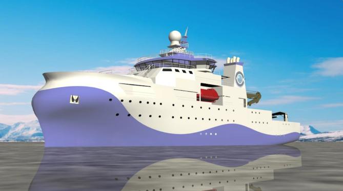 Figura 8: Recreación del nuevo buque oceanográfico (Fuente: CSIC)