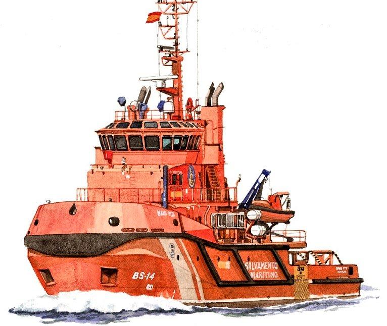 """Figura 1: Remolcador """"Maria Pita"""" (Fuente: Salvamento Marítimo)"""