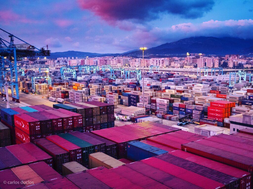 Figura 2: Terminal de contenedores del puerto de Algeciras (Fuente: Carlos Duclos)