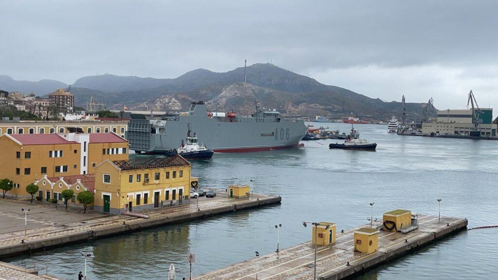 """Figura 12: El """"Ysabel"""" atracado en Cartagena"""